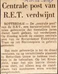 19670826 Centrale Post verdwijnt. (AD)