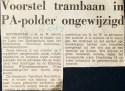 19671016 Voorstel tranbaan PA-polder ongewijzigd.