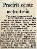 19671209 Proefrit eerste metro-trein