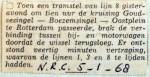 19680105 Bijwagen breekt los Goudsesingel (NRC)
