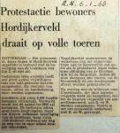 19680106 Protestactie Hordijkerveld draait op volle toeren