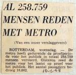 19680110 Al 258.759 mensen reden met metro