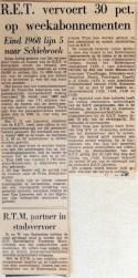19680111 RET vervoert 30 pct op weekabonnementen