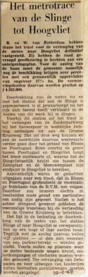 19680122 Metrotracee van Slinge tot Hoogvliet