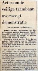 19680125 Actiecomitee overweegt demonstratie