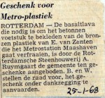 19680125 Geschenk voor metro-plastiek