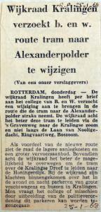 19680125 Wijkraad Kralingen wil tramroute wijzigen