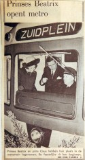 19680209 Prinses Beatrix opent metro