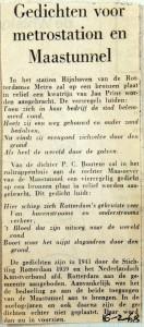 19680216 Gedichten voor metrostation en maastunnel