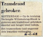 19680216 Tramdraad gebroken
