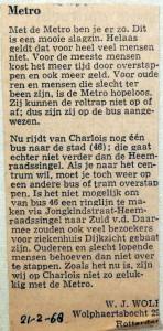 19680221 Met de metro ben je er zo