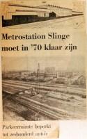 19680410 Metrostation Slinge in 1970 klaar