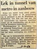 19680511 Lek in tunnel van metro in aanbouw