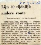 19680517 Lijn 40 tijdelijk andere route (Parool)