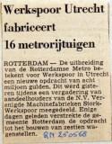 19680525 Werkspoor Utrecht fabriceert 16 metrorijtuigen