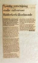 19680624 Studie railvervoer Ridderkerk verschijnt spoedig