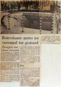 19680702 Rotterdamse metro tot tweemaal toe gestoord (NRC)