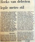 19680720 Reeks van defecten legde metro stil