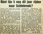 19680821 Gaat lijn 5 dit jaar nog naar Schiebroek