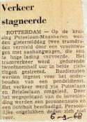 19680906 Verkeer stagneerde door draadbreuk Putselaan
