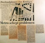 19681005 Metro schept problemen (Parool)