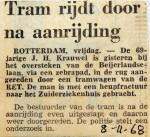 19681108 Tram rijdt door na aanrijding