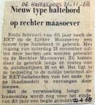 19681121 Nieuw type haltebord Rechter Maasoever (Havenloods)