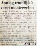 19681218 Aanleg tramlijn 5 vergt maatregelen