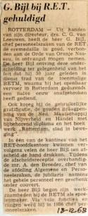 19681218 Huldiging bij RET