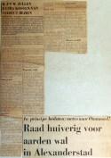 19690103 Raad huiverig voor aarden wal Alexanderstad