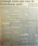 19690107 Geslaagd eerste jaar voor Rotterdamse metro