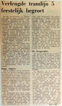 19690124 Verlengde tramlijn 5 feestelijk begroet