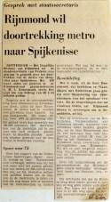 19690221 Rijnmond wil doortrekking naar Spijkenisse