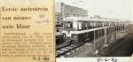 19690304 Eerste metrotrein nieuwe serie (RN)