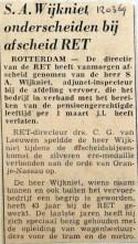 19690312 Wijkniet onderscheiden bij afscheid RET