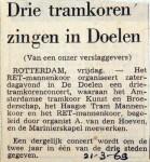 19690321 Drie tramkoren zingen in Doelen