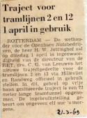 19690321 Nieuw traject voor tramlijnen 2 en 12