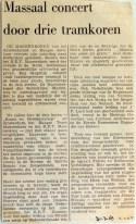 19690331 Massaal concert door drie tramkoren