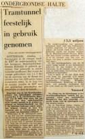 19690401 Tramtunnel feestelijk in gebruik