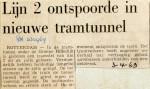 19690403 Lijn 2 ontspoorde in nieuwe tramtunnel (RN)