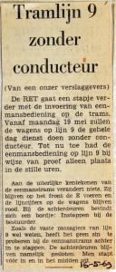 19690516 Tramlijn 9 zonder conducteur