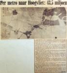 19690519 Per metro naar Hoogvliet, 43,5 miljoen