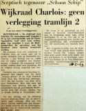 19690520 Wijkraad Charlois geen verlegging lijn 2
