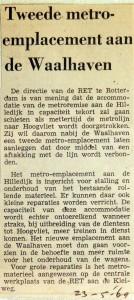 19690523 Tweede metro-emplacement aan de Waalhaven