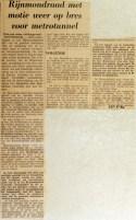 19690625 Rijnmondraad met motie op de bres voor metrotunnel