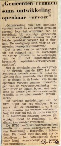 19690628 Gemeenten remmen soms ontwikkeling openbaar vervoer