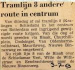 19690703 Tramlijn 8 andere route in centrum