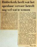 19690705 Ridderkerk heeft OV-wensen
