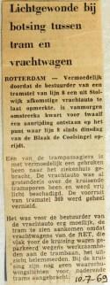 19690710 Lichtgewonde bij botsing tram-vrachtwagen