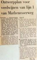 19690923 Ontwerpplan verdwijnen lijn 1 van Mathenesserweg